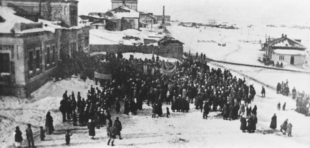 Митинг на КХЗ, посвященный выдаче первого кокса, 1924 г.