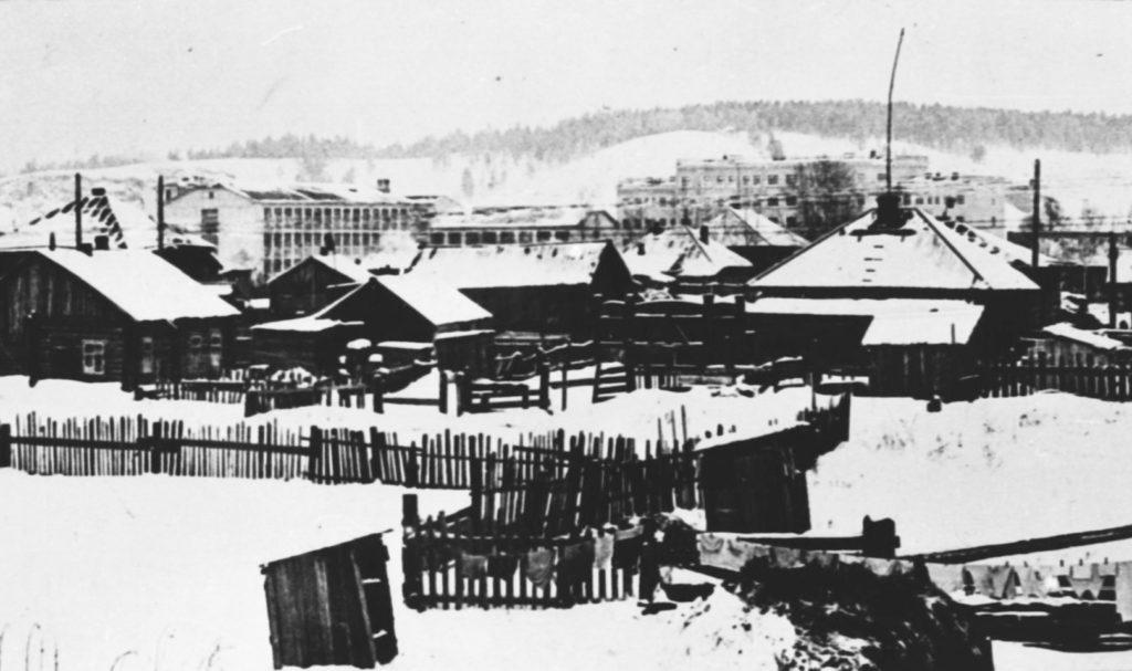 Строительство многоэтажных домов на Притомском Участке, 1935 г.