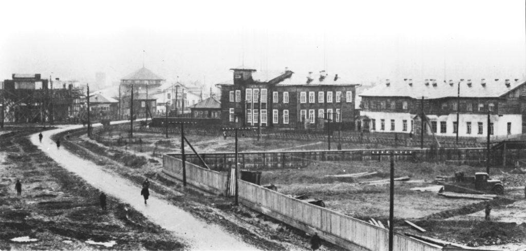 Площадка для строительства здания кинотеатра Москва, 1935 г.