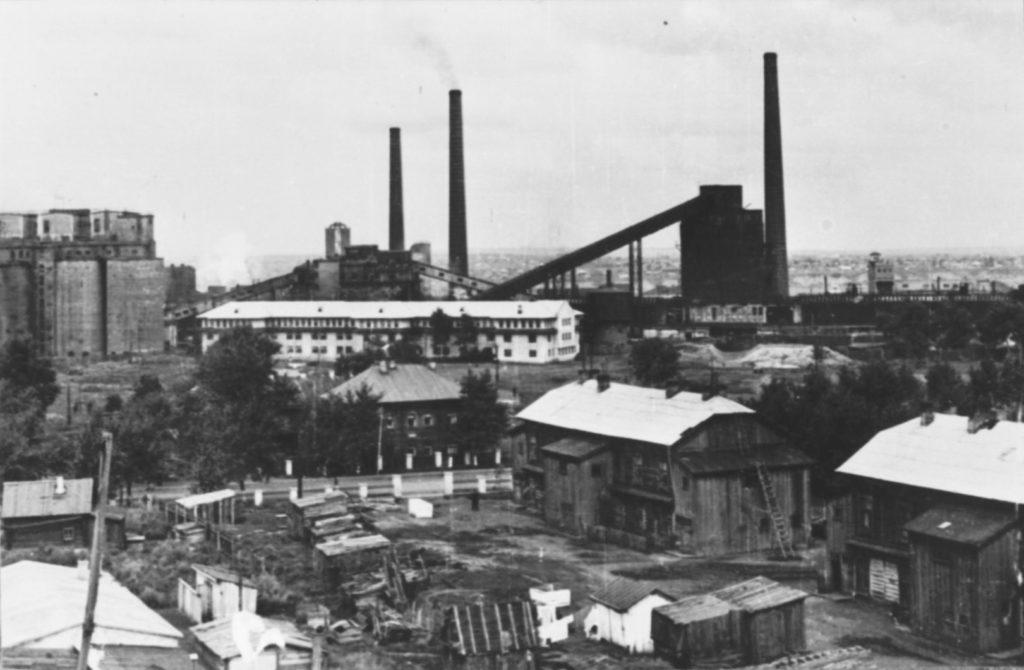 Вид на Кемеровский коксохимзавод, 1930 г.