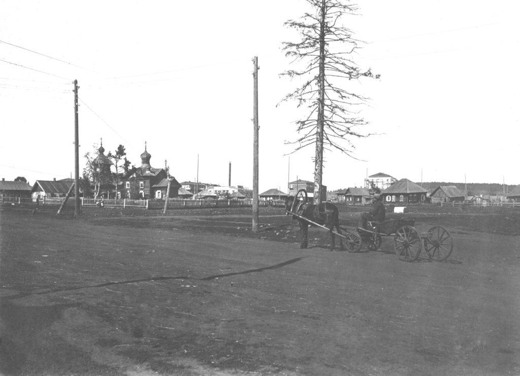 Щегловская церковь (сейчас на этом месте часовня в память погибших шахтеров Кузбасса), 1933 г.