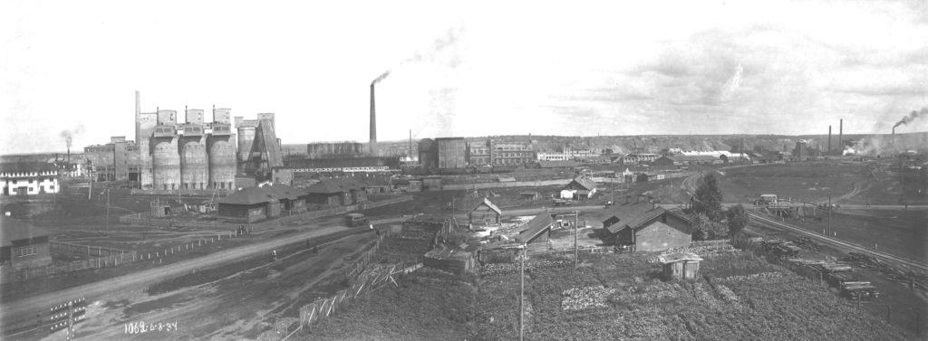 Панорама строительства коксохимзавода, 1934 г.