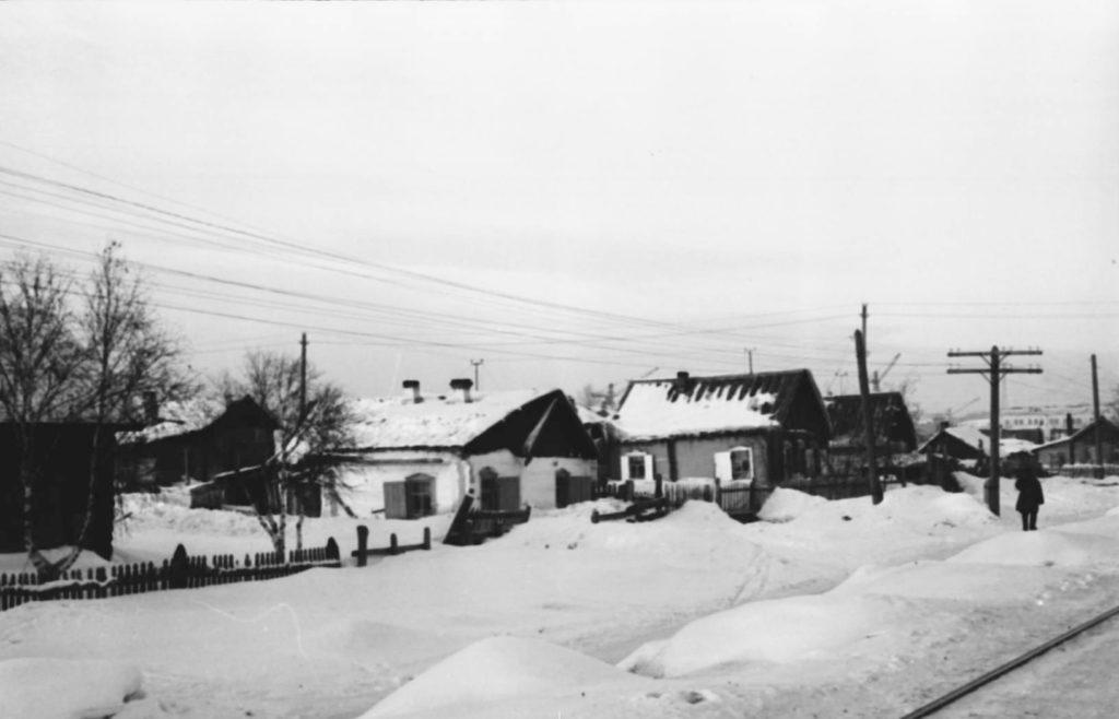 Улица Ленинградская  (сейчас ул. Весенняя), 1954 г.