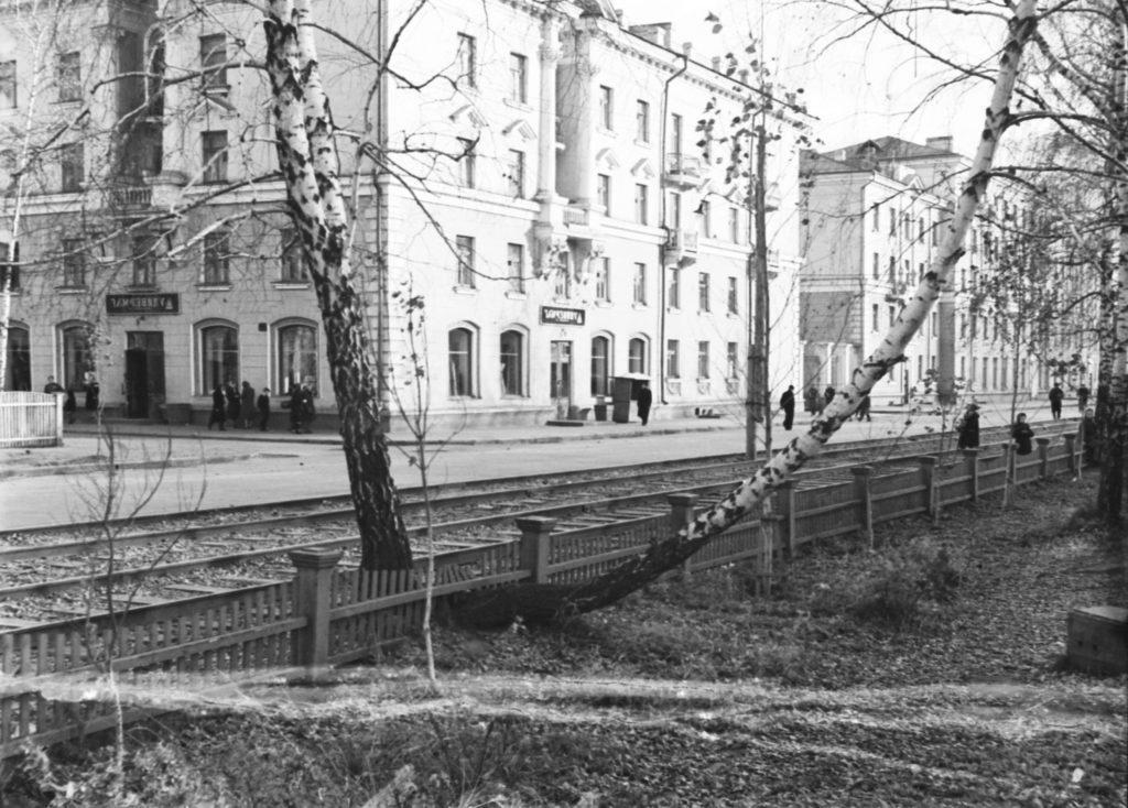 Жилые дома на улице 40 лет Октября в Кировском районе г. Кемерово, 1957 г.