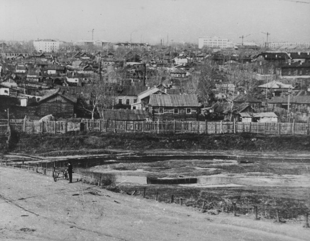 Панорама Приискитимского района г. Кемерово, 1950-е годы.