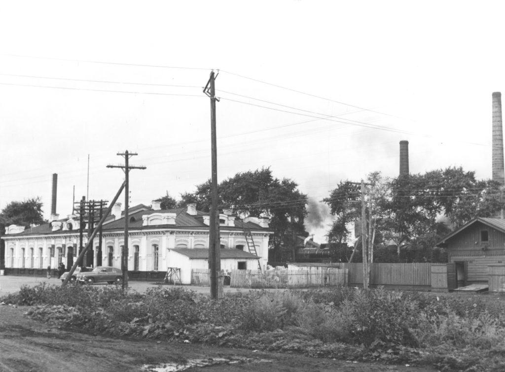 Железнодорожный вокзал г. Кемерово, 1954 г.