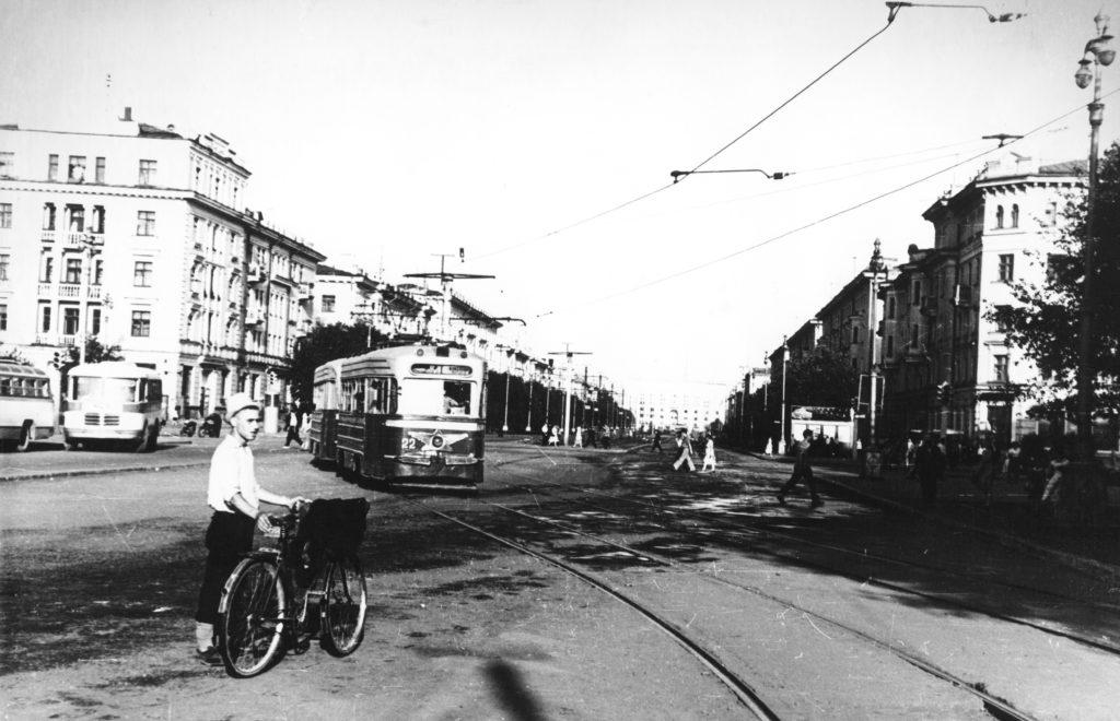 Советский проспект г. Кемерово, 1950-е годы.
