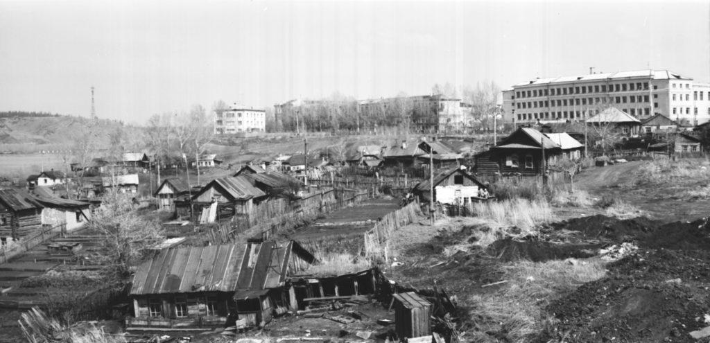 Панорама притомского участка (сейчас р-н филармонии), 1950-е годы.