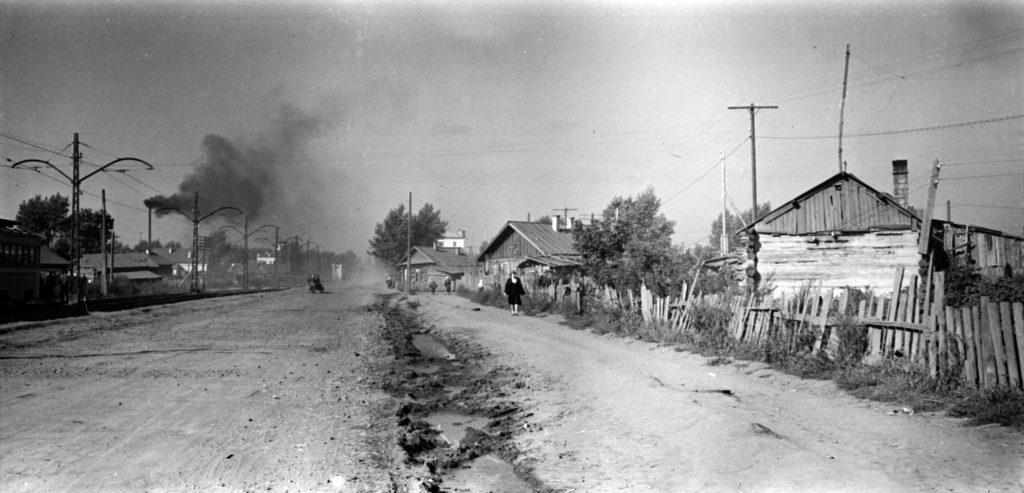 Улица Магистральная (сейчас пр. Ленина), 1950-е годы.