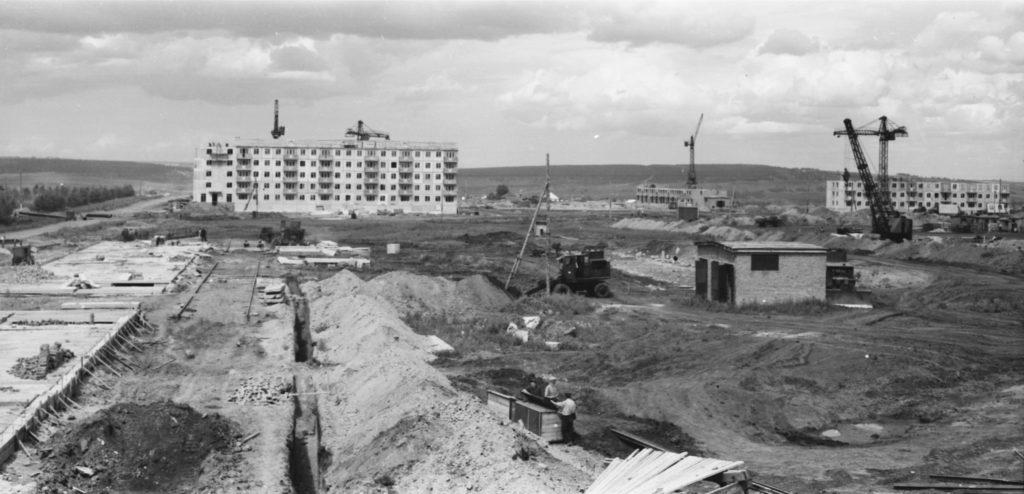 Строительство микрорайонов N2, 3, 4 и 5 (район телецентра), 1958-1960 гг.