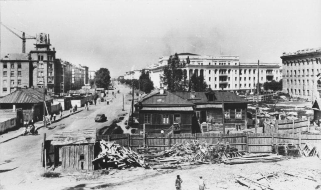 Панорама будущей пл. Советов, 1950-е годы.