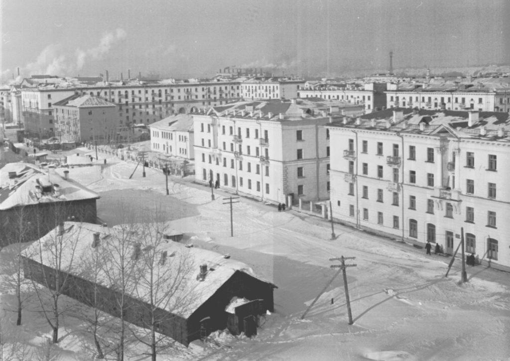 Жилые дома на ул. Ноградской, 1960 г.