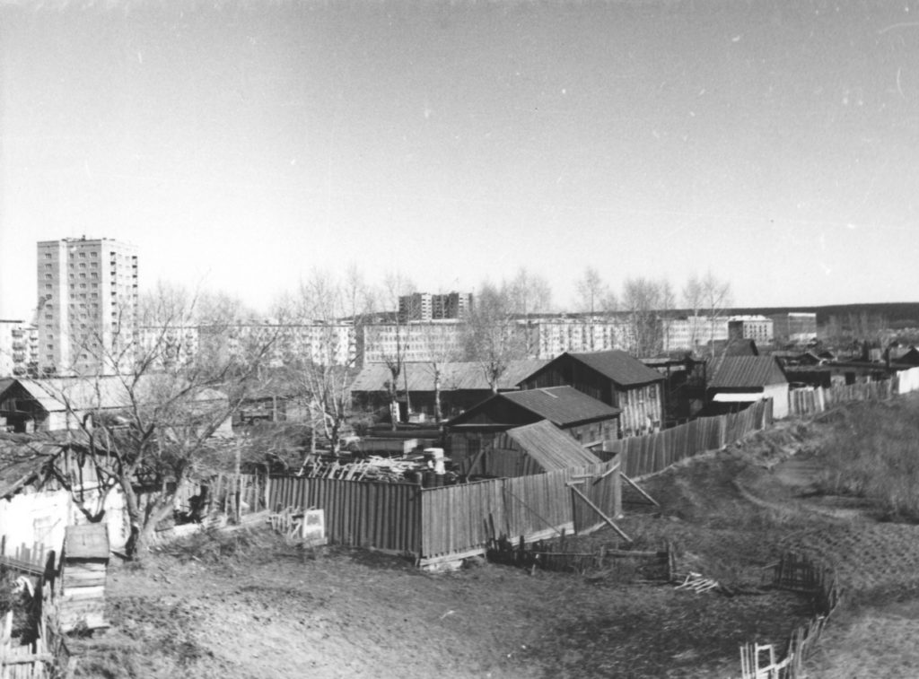 Частный сектор в Приискитимском районе г. Кемерово, 1966 г.
