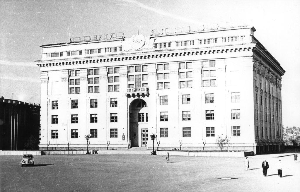 Здание Обкома КПСС (сейчас администрация Кемеровской области), 1960-е годы.