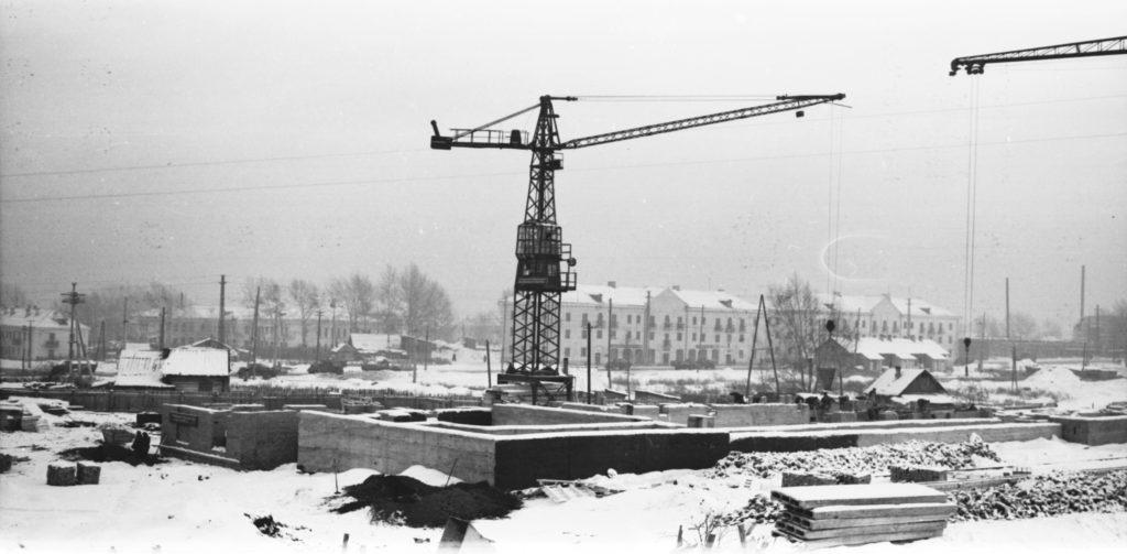 Строительство нового железнодорожного вокзала, 1962 г.