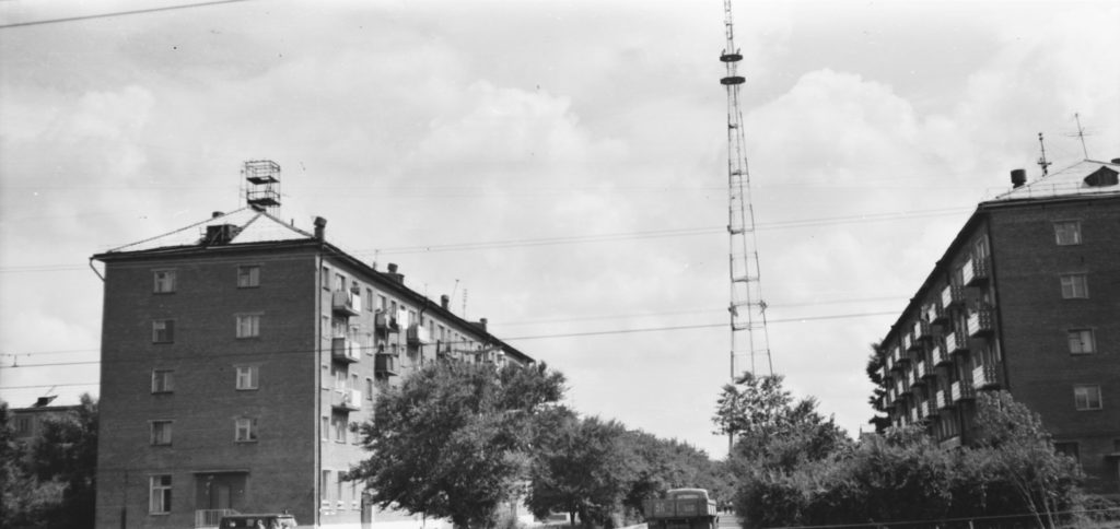 Улица Учебная (сейчас ул. Гагарина), 1960-е годы.