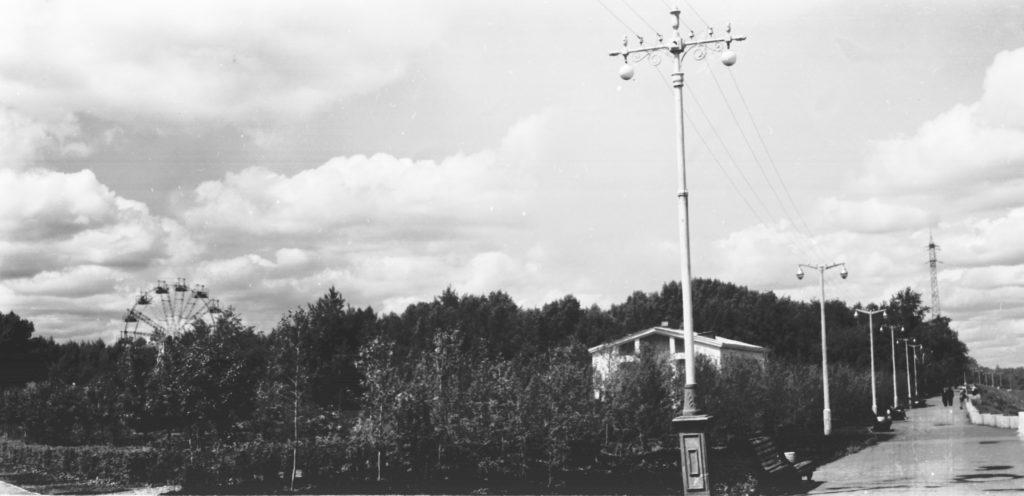 Общий вид городского сада, 1964 г.