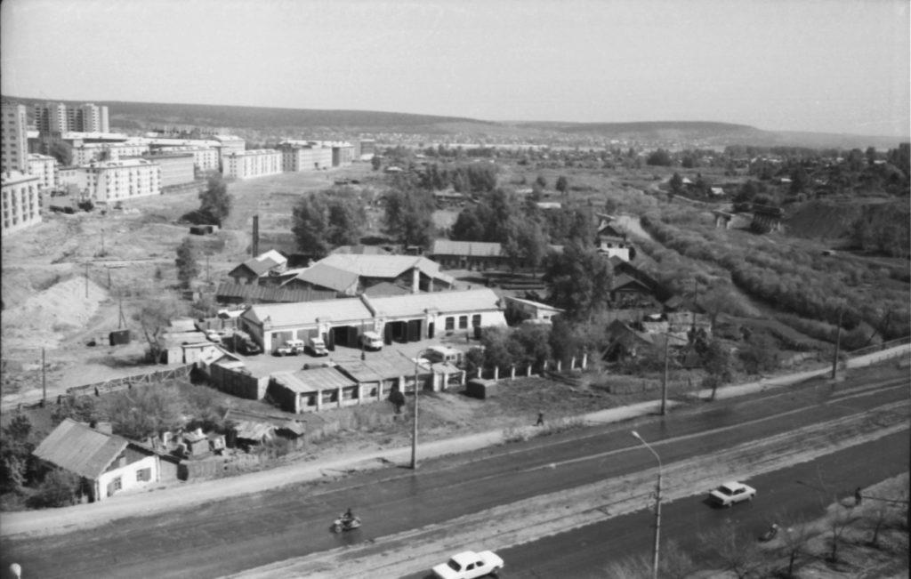 Вид города с искитимского моста (пр. Ленина), 1966 г.
