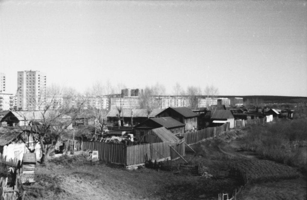 Частный сектор в районе р. Искитимка, 1966 г.