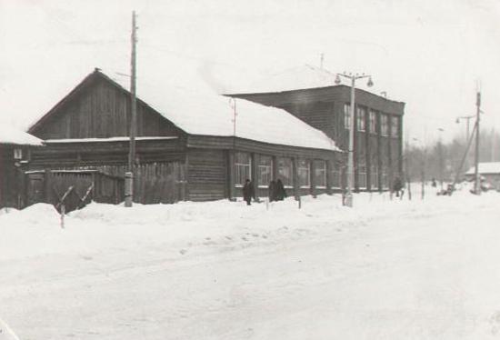 Магазин ОРСа треста Кемеровоуголь. Здание построено АИК Кузбасс в 1925 г., 1968 г.