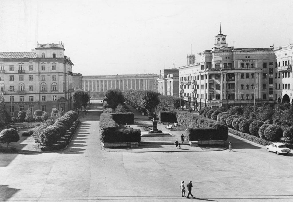 Площадь Пушкина в г. Кемерово, 1966 г.