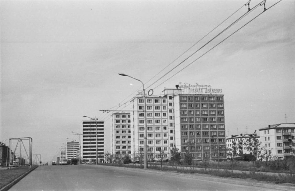 Новые высотные дома на пр. Ленина, 1970 г.