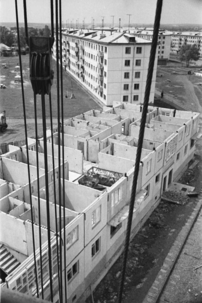 Строительство жилья на пр. Ленина, 1971 г.
