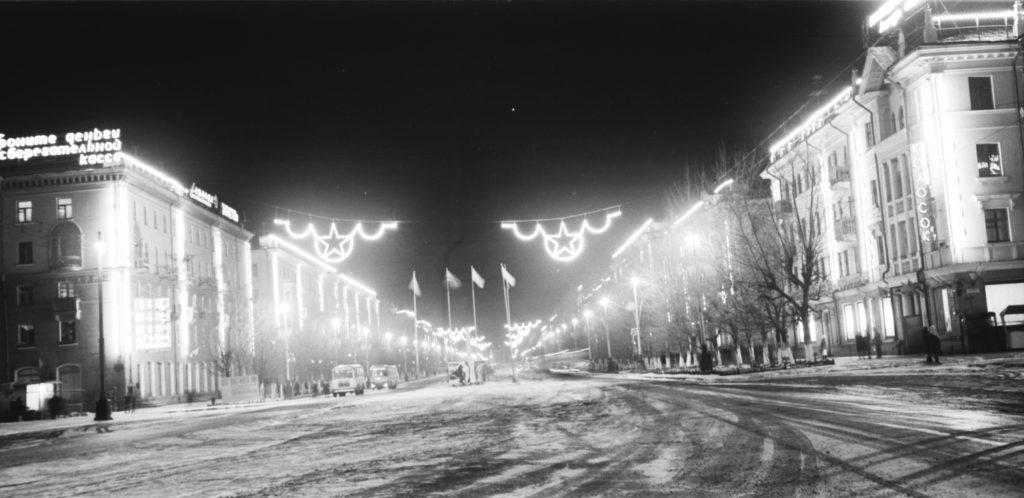 Вечерний Советский проспект, 1970-е годы.
