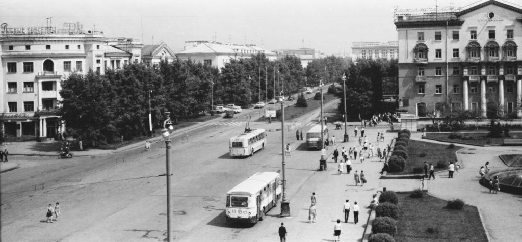 Театральная площадь, 1970-е годы.