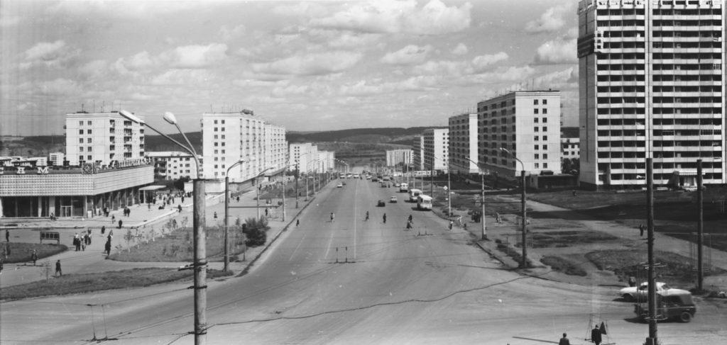 Проспект Ленина в районе магазина Универсам N2, 1977-1980 гг.