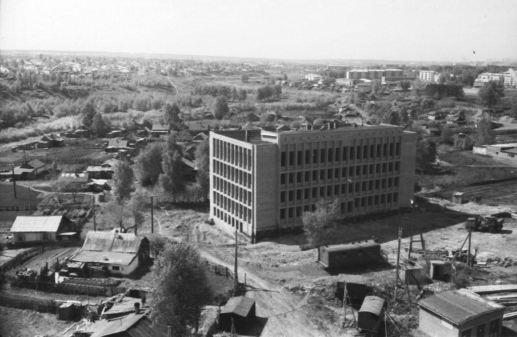Строительство в районе Искитимского моста, 1973 г.