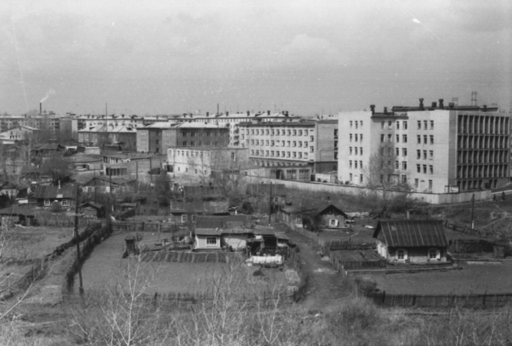 Панорама района Искитимского моста, 1978 г.