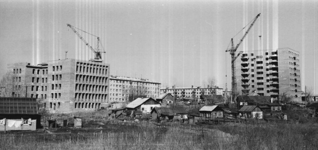 Застройка пр. Ленина в районе Искитимского моста, 1973 г.