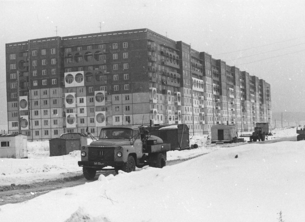 Застройка микрорайона Шалготарьян, 1984 г.