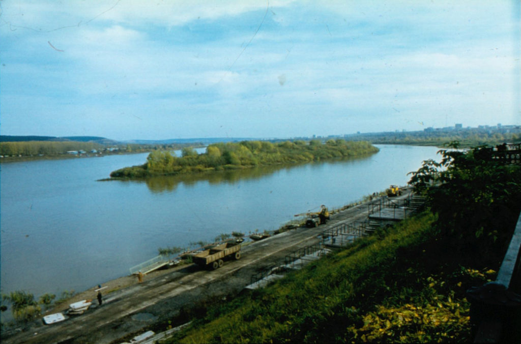 Строительство набережной р. Томь, 1985 г.