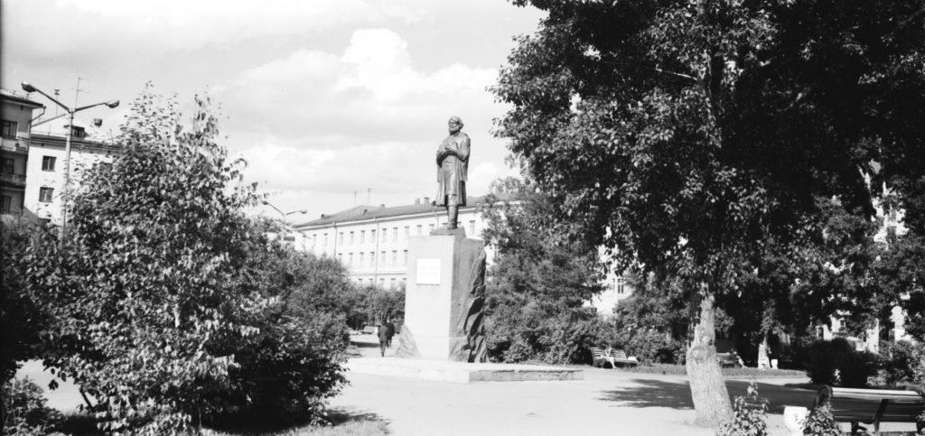 Памятник М. Волкову - первооткрывателю Кузнецких углей, 1980 г.