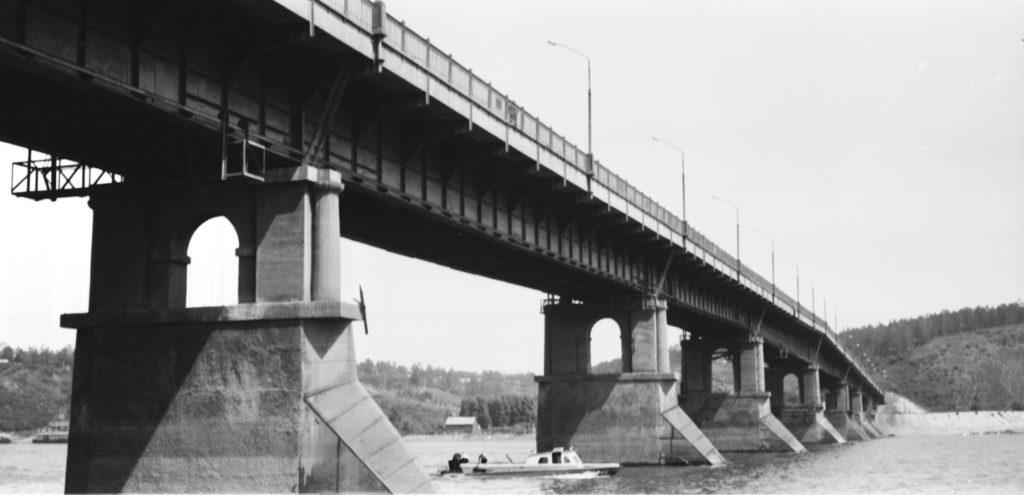 Коммунальный мост через р. Томь, 1980-е годы.