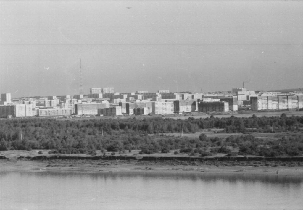 Панорама микрорайона Шалготарьян, 1980-е годы.