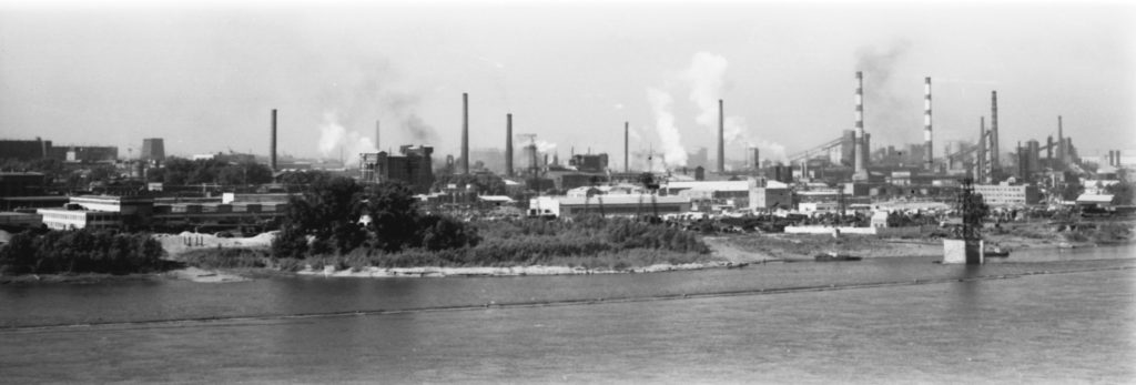 Панорама заводов г. Кемерово, 1980-е годы.
