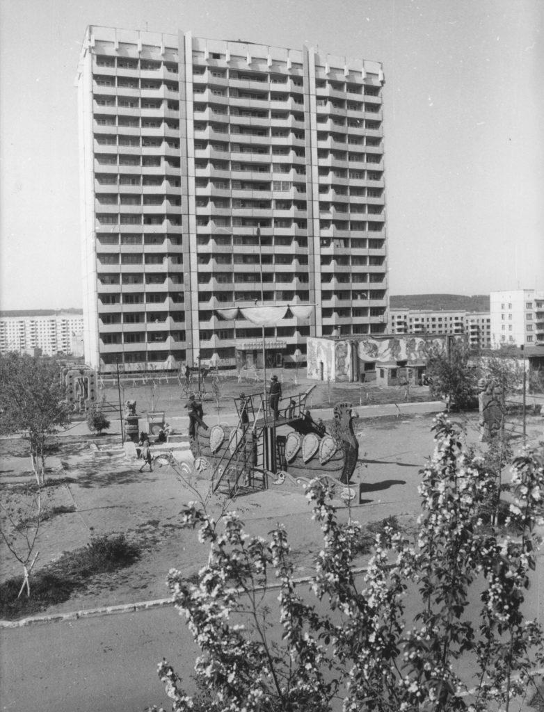 Новый 16-ти этажный дом на пр. Ленина, 1982 г.