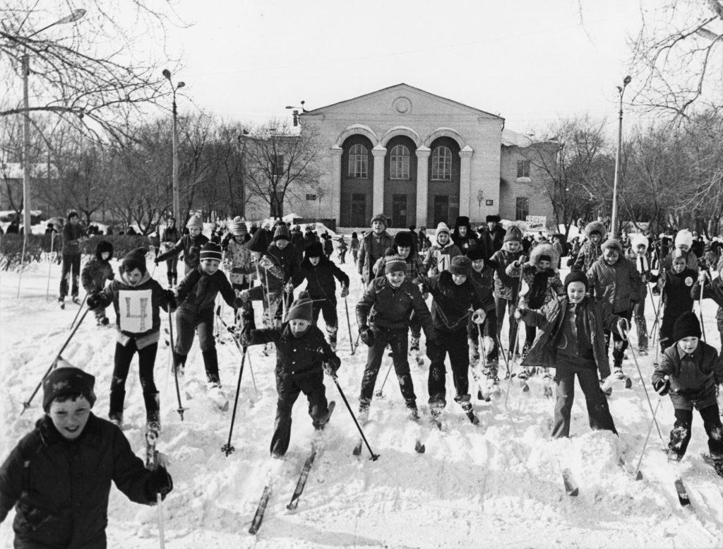 Юные лыжники г. Кемерово, 1982 г.