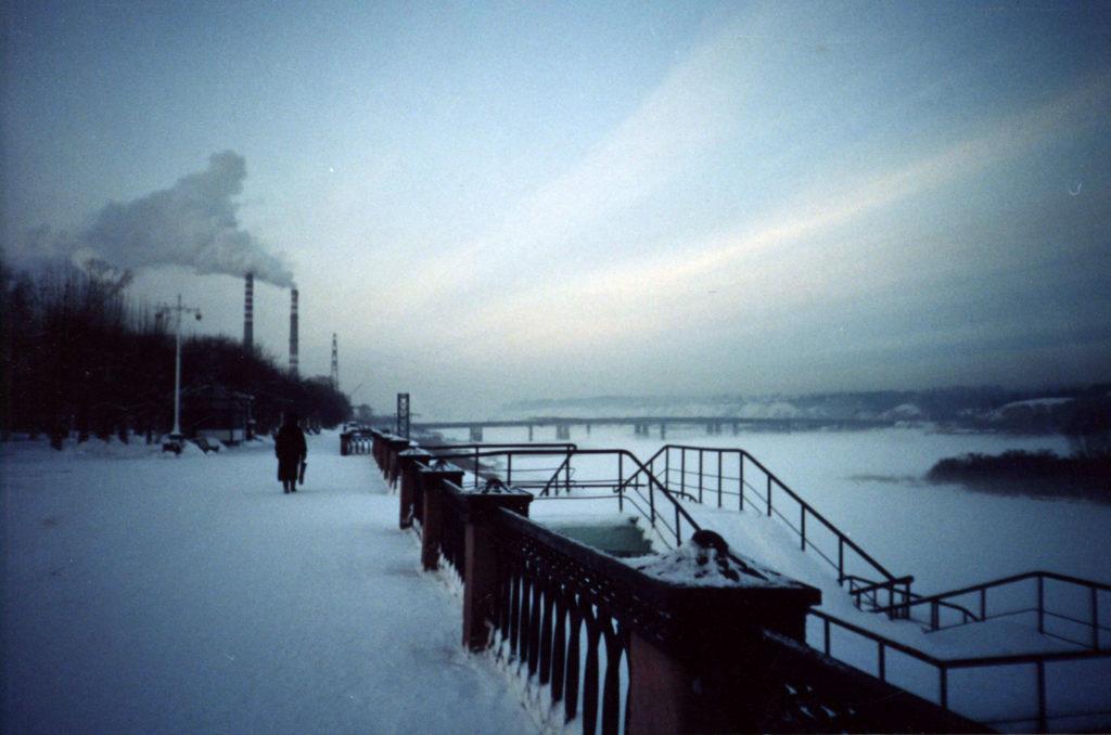 Набережная р. Томь зимой, 2004 г.