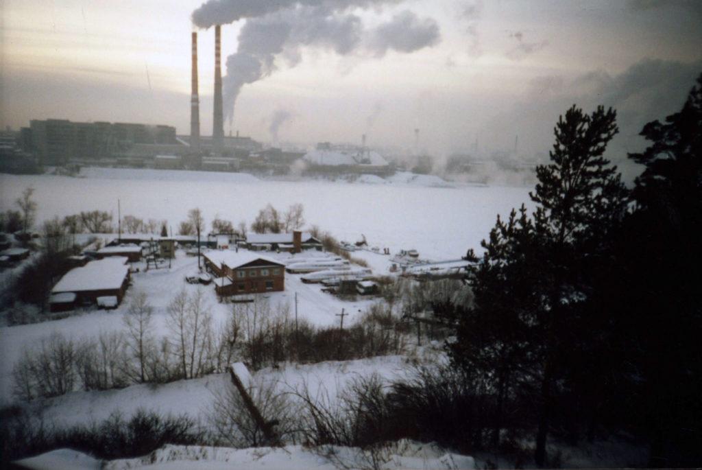 Панорама левого берега р.Томь, 2004 г.